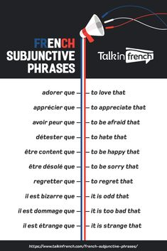Looking for French subjunctive phrases? Here's a useful list that sorts French s… Looking for French subjunctive phrases? Here's a useful list that sorts French subjunctive phrases according to type. French Swear Words, French Words Quotes, Basic French Words, Spanish Quotes, French Language Lessons, French Language Learning, French Lessons, Spanish Lessons, Spanish Language