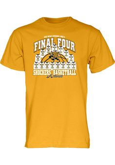 Wichita State University (WSU) Shockers Final Four Men's Gold Team Jerseys Shirt http://www.rallyhouse.com/college/wichita-state-shockers/a/mens/b/clothing/c/t-shirts?utm_source=pinterest&utm_medium=social&utm_campaign=Pinterest-WSUShockers $19.99
