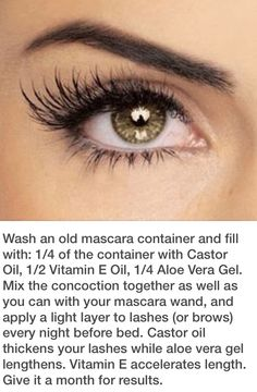How to grow your eye lashes with a homemade recipe!