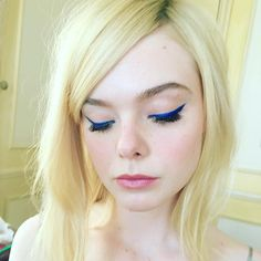 Elle's makeup for the Cannes 70th Anniversary Gala. I couldn't love creating looks for this face more and I am so grateful that I get to!!! Beautiful girl. 🦄🦄🦄 All makeup products, L'Oreal. #ellefanning #loreal #eyeliner #cobalt #makeupartist #mua #redcarpet #cannes #cannes2017 #blonde #bombshell #teamunicorn