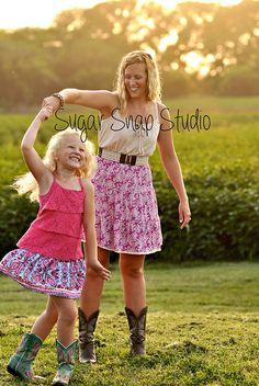 Mother daughter mom child photography sunset dance / Sugar Snap Studio