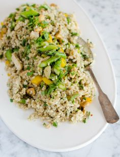 Lunch Recipe: Fried Brown Rice with Asparagus, Bell Pepper & Cashews Recipes from The Kitchn