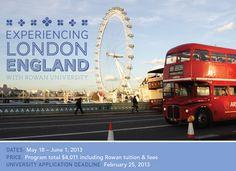 Rowan University in London, England ISA study abroad custom programs