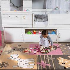 Arte Espina Kids Rugs 4184 62 - Free UK Delivery - The Rug Seller Contemporary Rugs, Modern Rugs, Childrens Rugs, Luxurious Rugs, Cool Rugs, Girls Bedroom, Animal Print Rug, Kids Room, Designer Rugs