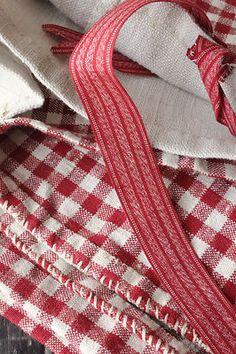 Antique French Kelsch homespun linen duvet cover