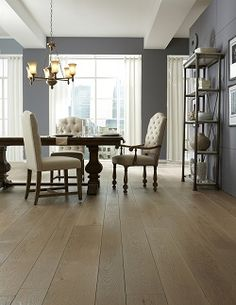 White Oak hardwood floors are a durable and versatile wide plank flooring options.