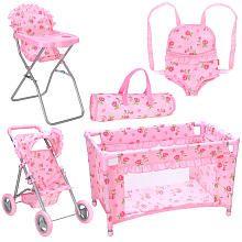 Fao Schwarz 4 In 1 Nursery Essentials Baby Doll Furniture Dollhouse