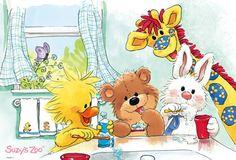 Florynda del Sol ღ☀¨✿ ¸.ღ ♥Suzy's Zoo♥ Anche gli Orsetti hanno un'anima…♥ Nursery Paintings, Nursery Art, Zoo Art, Safari, Bullet Journal Art, My Teddy Bear, Whimsical Christmas, Sweet Pic, Children Images
