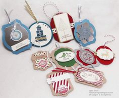 Cattail Designs: Stampin Up Christmas Tags