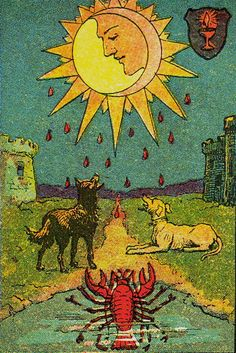 Knapp-Hall Tarot ► The Moon | Major Arcana Art | Oracle Cards | Tarot Deck | Oracle Reading | Fortune Telling | Divination