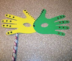 """Mask craft... make for our postponed """"Mardi Gras Day"""" next week (she's 3, we're in Canada, she will not know the difference)"""