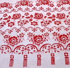 Ukrainian embroidery motifs for either table settings, paper flags or maybe on my own dress or my bridesmaids'.
