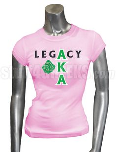alpha+kappa+alpha | Alpha Kappa Alpha T-Shirt (Ladies Fitted Tee pictured)