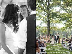 beautiful outdoor wedding ceremony.