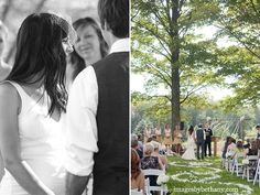 beautiful outdoor wedding ceremony.  #DonnaMorganEngaged