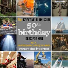 Plan a heist? Escape from death row? Get creative and unusual birthday ideas for men from a professional event planner. Birthday Party Menu, 50th Birthday Party Ideas For Men, 50th Birthday Presents, Man Birthday, Birthday Celebration, Birthday Activities, Travel Party, Presents For Men, Creative