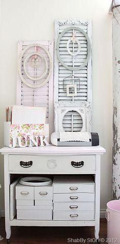 shutters to hang things