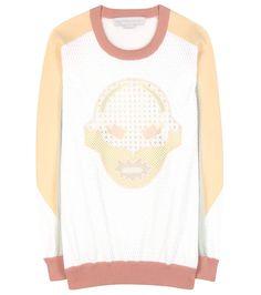 Mesh sweatshirt with Superstellaheroes print