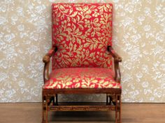 Dolls House Arm Chair from The Wonham Collection. R0442.  Glorious!!