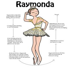 Raymonda is always on Pointe 👏 her costume is one of my favorites. Sometimes it comes in blue, but the off white and gold is 👌 gorgeous. Ballet Girls, Ballet Dancers, Dance Terminology, Ballet Steps, Dance Positions, Dancer Workout, Ballet Workouts, Ballet Drawings, Ballet Images
