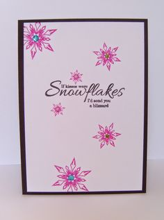 Time for a new challenge at Addicted to CAS . Our host this week is the very creative and talented Harriet and she has chosen the fol. Snowflake Cards, Snowflakes, Cardmaking And Papercraft, Clear Stamps, Cas, I Card, Christmas Cards, Addiction, Card Making