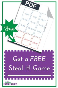 Snag a free game that teaches sight words AND phonics--simultaneously. Also, discover we shouldn't push sight words before our students have a sound-symbol approach to decoding. Instead, give them a strong decoding foundation & teach sight words THRU phonics. #decoding #phonics #game #intervention