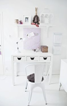 White clean kids room
