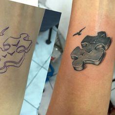 3D puzzle piece tattoo