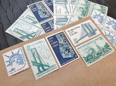 New York ..  New York  .. UNused Vintage Postage by VerdeStudio, $7.25