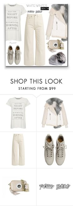 """Winter White"" by ragnh-mjos ❤ liked on Polyvore featuring Wildfox, Brock Collection, Fear of God, Edge Only, Black and vintage"