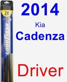 Driver Wiper Blade for 2014 Kia Cadenza - Hybrid