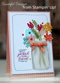 Beautiful Bouquet from Stampin' Up! Jar of Love