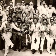 Hector LaVoe, Yomo Toro, Celia Cruz,, Johnny Pacheco and a host of salsa super stars from the made up La Fania All-Stars. Spanish Music, Latin Music, Good Music, My Music, Music Books, Live Music, Heavy Metal, Puerto Rican Music, All Star