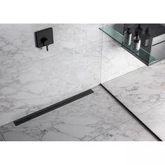 QM Drain Bay Linear Grid Shower Drain & Reviews | Wayfair Linear Drain Shower, Shower Drain, Shower Faucet, Shower Installation, Stainless Steel 304, Shower Systems, Water Conservation, Kids Bath, Shower Heads