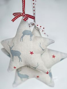 Stars made from Peony & Sage textiles
