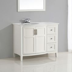 """Found it at Wayfair - Winston 43"""" Single Rounded Front Bath Vanity Set"""