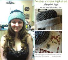 Downton knit hat pattern