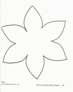 Flower template 3964