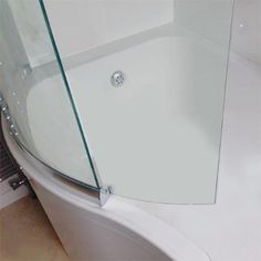 Sommer P Shaped Shower Bath 1700mm Inc Sliding Screen And Acrylic Front Panel