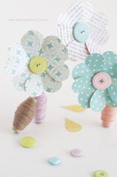 Fácil y Sencillo: DIY - Flores de Papel para el día de la Madre