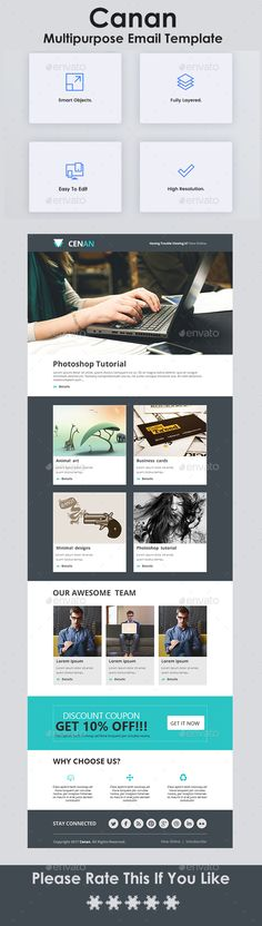 Fashion Ecommerce Email Newsletter Template  Newsletter Templates