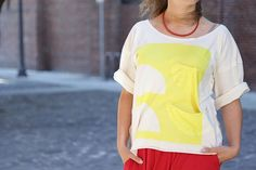 DIY Oversized T-Shirt : No-sew