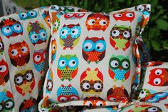 Shopping Cart Cover Boutique  Big Eyed Owls by ThreeLittleMiracles, $65.00