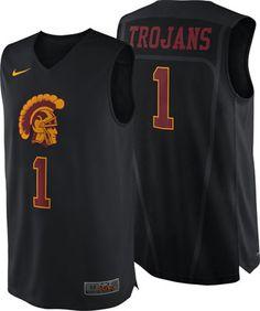 USC Trojans Nike On-Court Hyper Elite Road Authentic Basketball Jersey Usc  Athletics 5e9f2df87