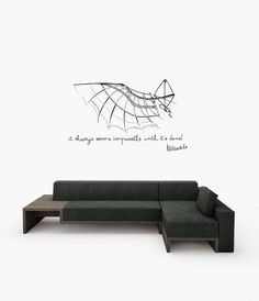 Nelson Mandela inspiration quote and Da Vinci flying machine drawing design large wall decal by cutnpasteshop