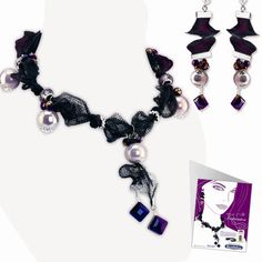Artistic Wire Mesh Necklace and Earrings