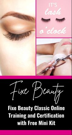 DID YOU KNOW THAT LASH ARTISTS MAKE AN AVERAGE OF $65 TO $95 PER HOUR? GET LASH PRO CERTIFIED IN LESS THAN 2 DAYS ONLINE! #makeup Beauty Lash, Beauty Skin, Beauty Makeup, Makeup Guide, Drugstore Makeup, Fashion Beauty, Women's Fashion, Skin Makeup, Wedding Inspiration