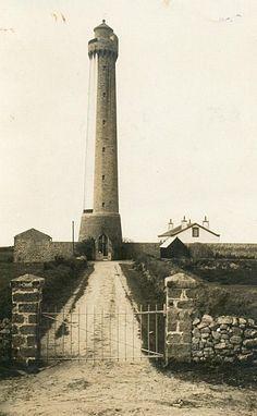 Phare de Trezien Plouarzel - photo d'époque noir et blanc | Finistère Bretagne