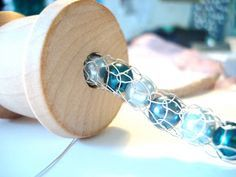 Knitting With Wire Tutorial : Wire jewelry making how to make chain filled with pearls beads