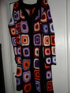 Crochet hippie boho caleidoscope coat jacket by krittenart on Etsy